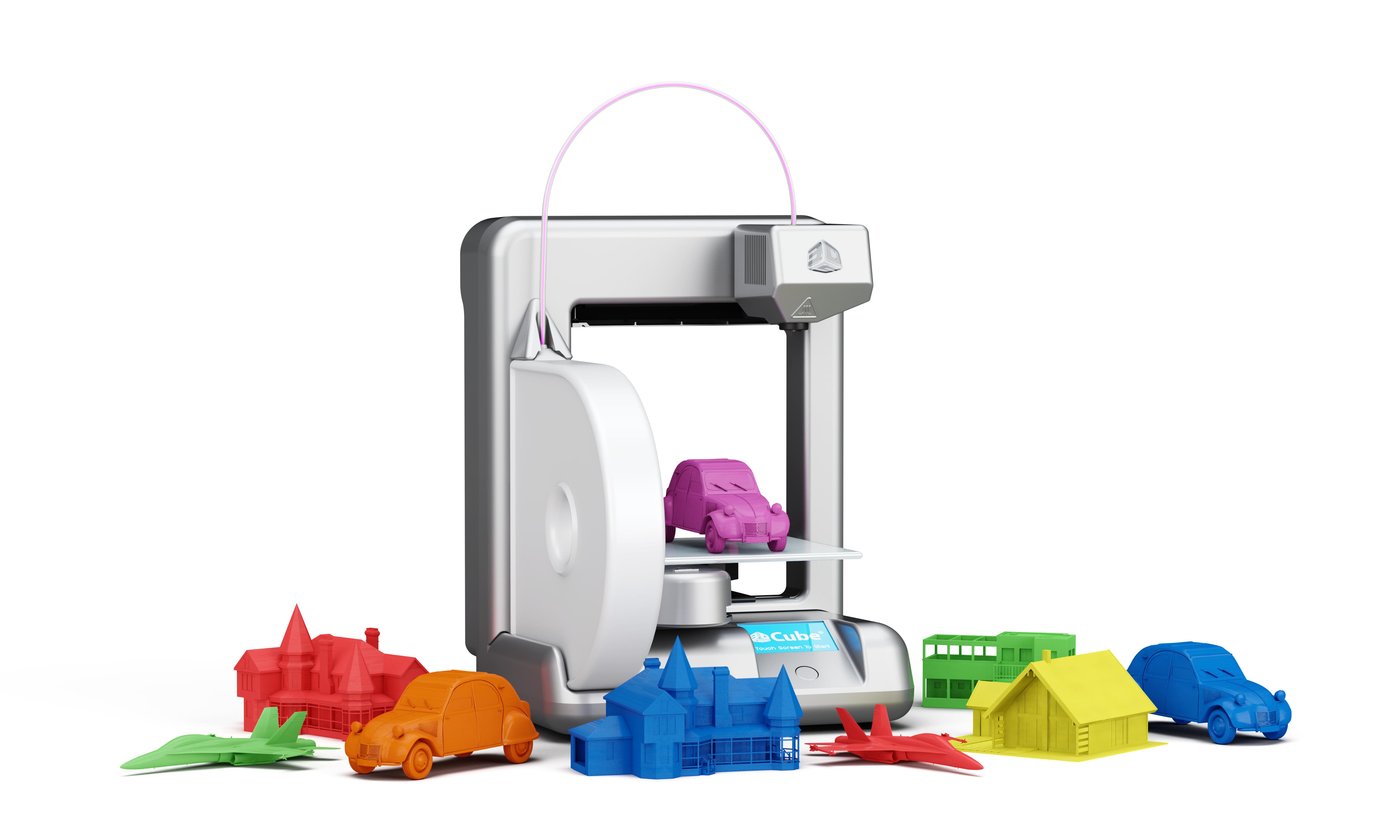 Printer Cube With Creations