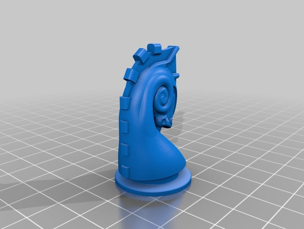 3D print the knight from Duchamps chess set