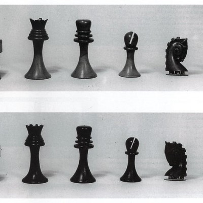 Duchamps chess set 3D printed