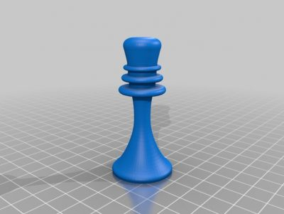 3D print the queen from Duchamps chess set