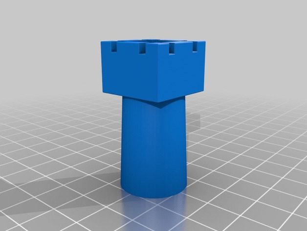 3D print the rook from Duchamps chess set