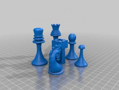 3D print Duchamps chess set