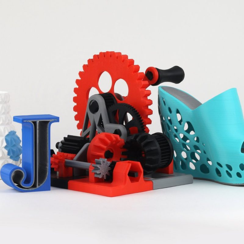 example gear assembly built with the CubePro 3D printer