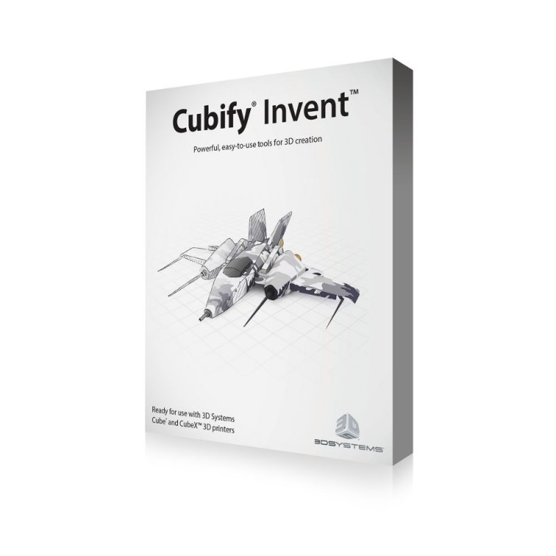Cubify Invent 3D modelling software for 3D printing