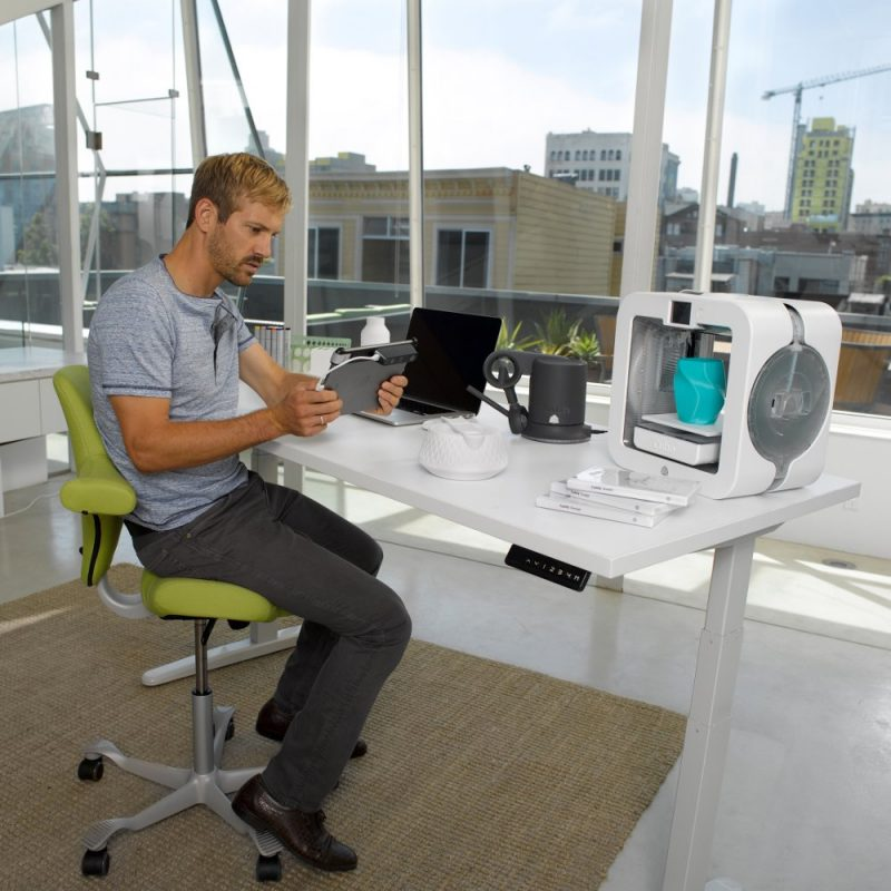 Using the iSense 3D scanner for 3D printing with the Cube 3 in the office