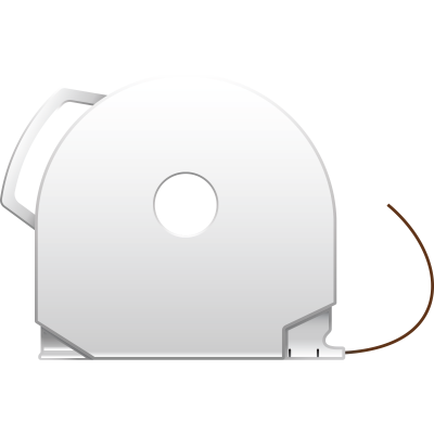 Brown CubePro 3D printer filament cartridge