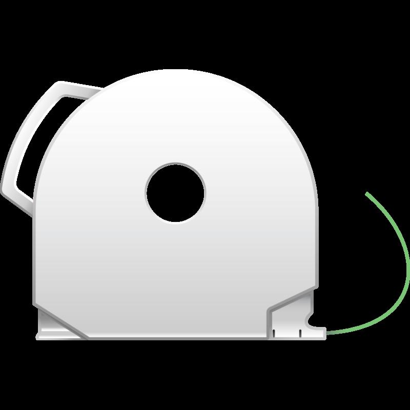 Glowing Green CubePro 3D printer filament cartridge
