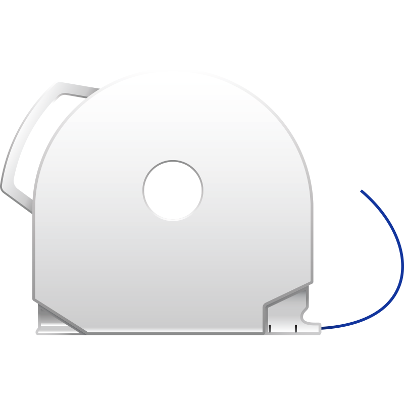 Navy Blue CubePro 3D printer filament cartridge