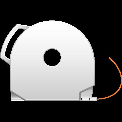Neon Orange CubePro 3D printer filament cartridge