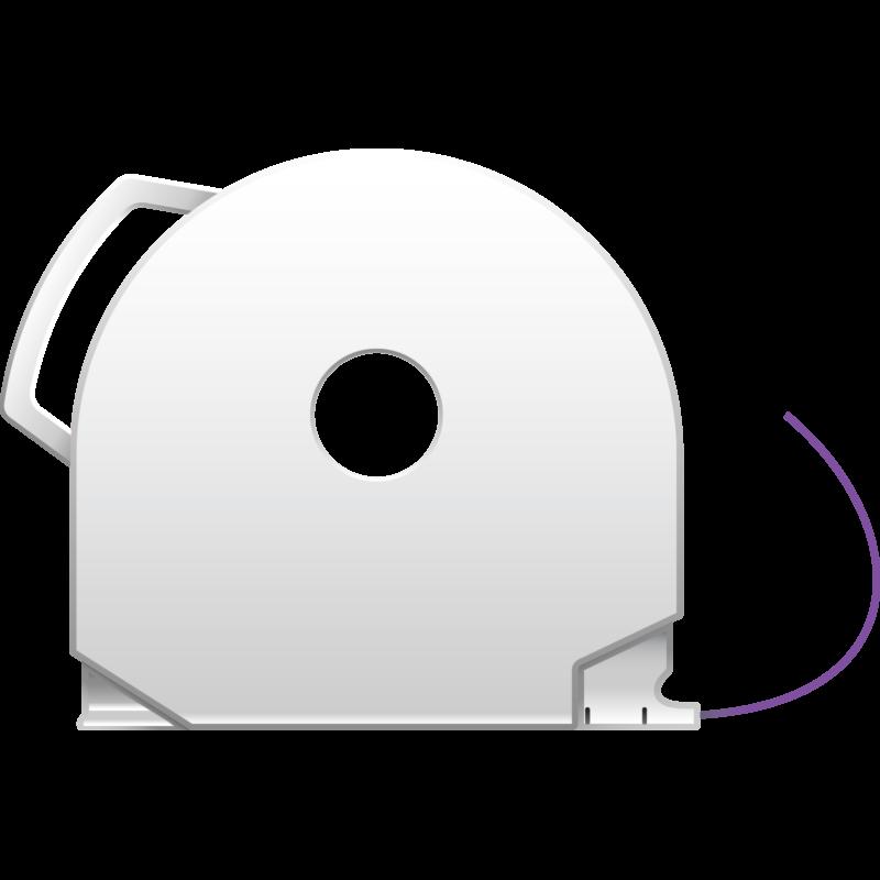 Purple CubePro 3D printer filament cartridge