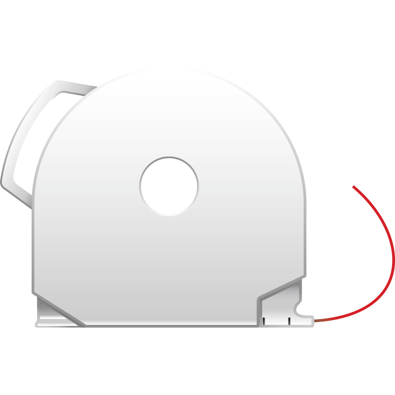 Red CubePro 3D printer filament cartridge