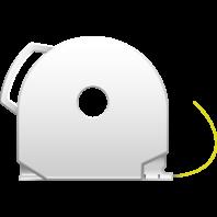 Yellow CubePro 3D printer filament cartridge