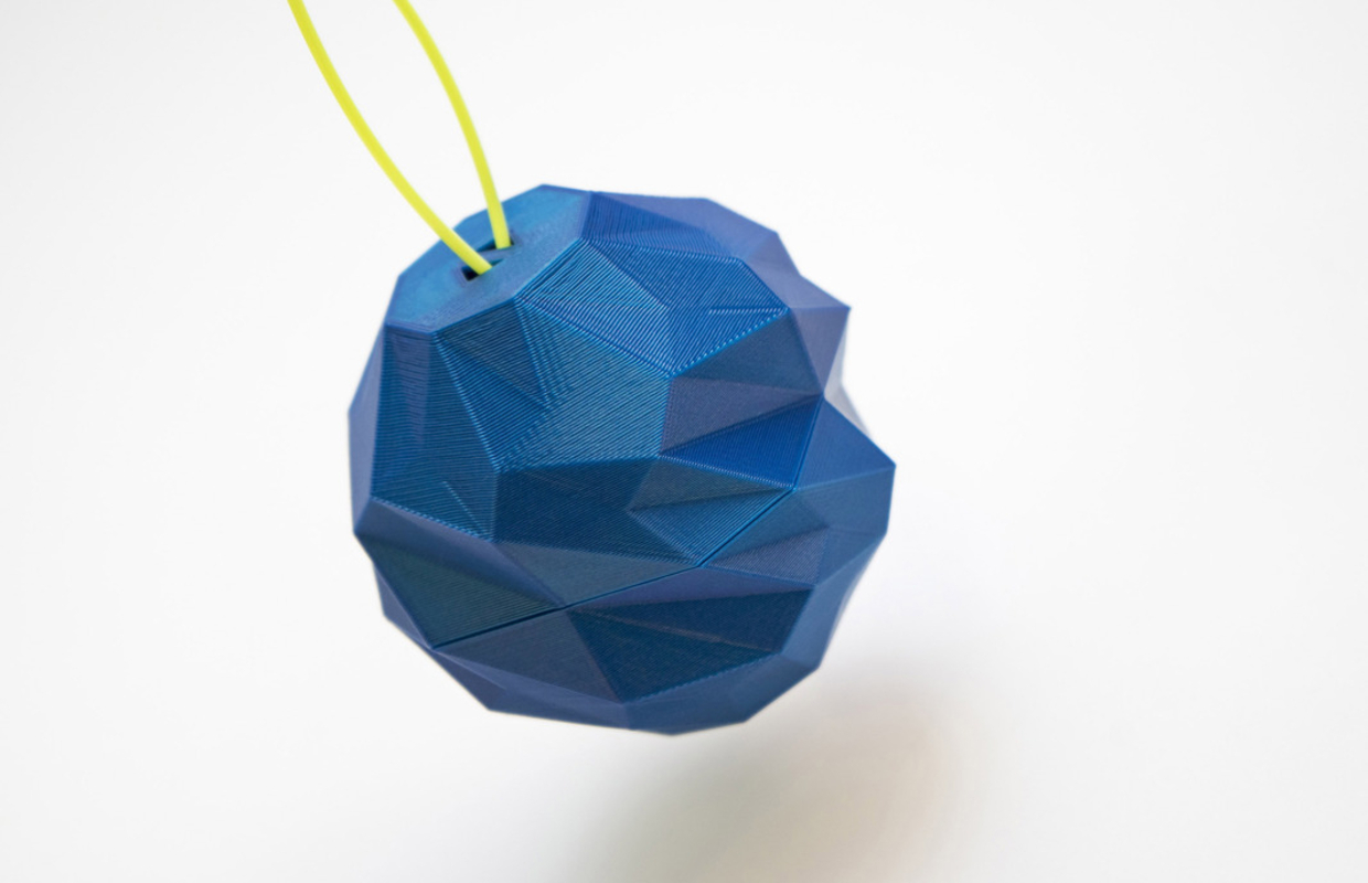 Christmas Bauble in blue ABS