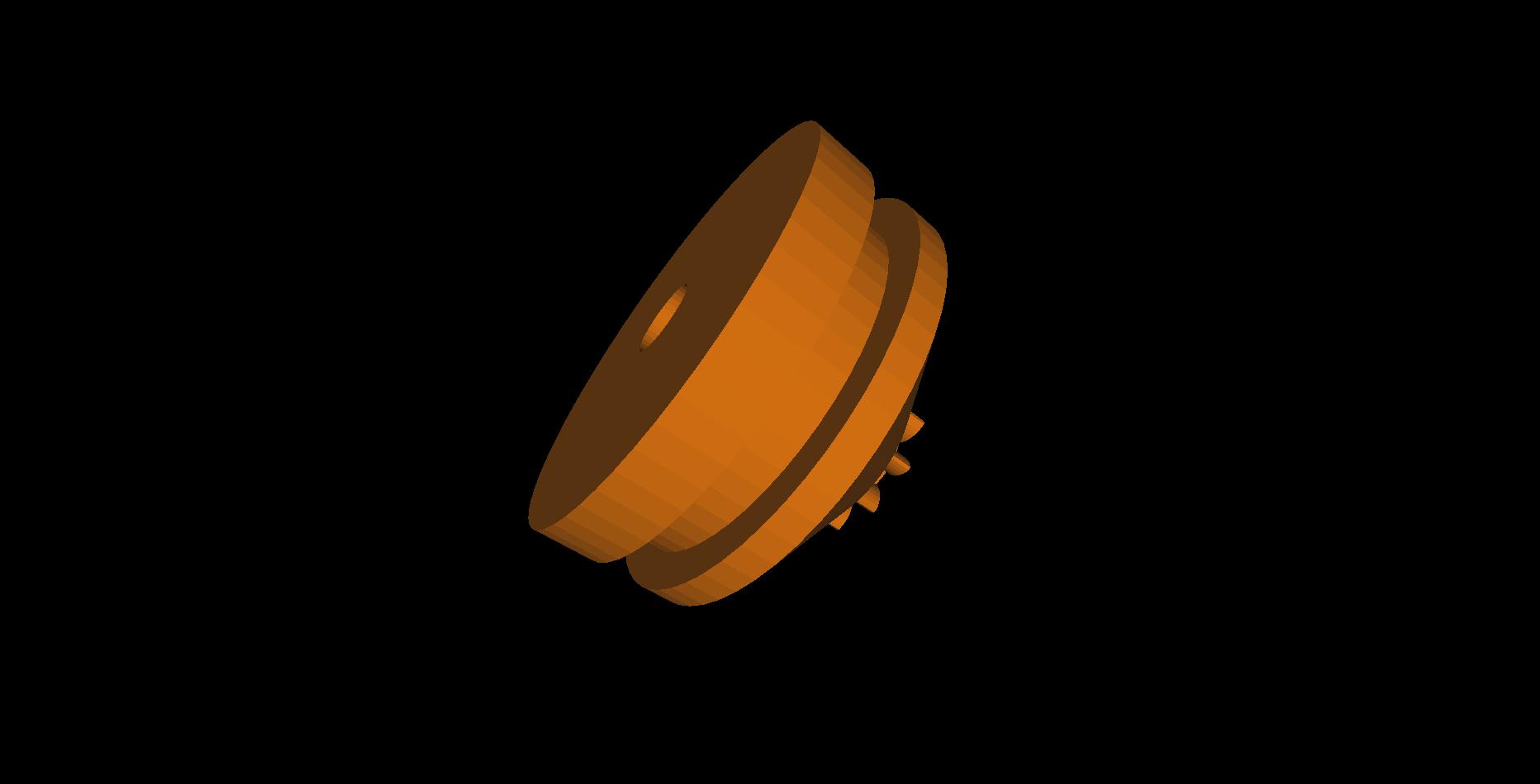 Shaft Wheel .STL File