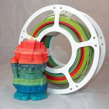 Make multicoloured 3D printer filament with the strooder filament extruder