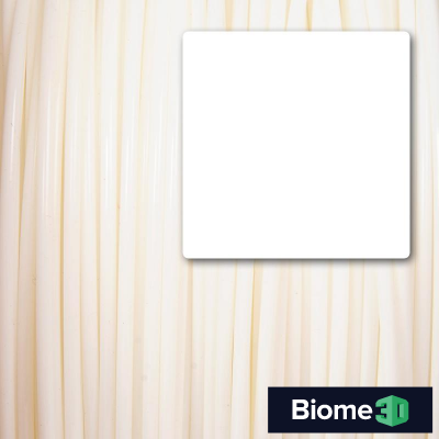white biome 3d pla filament