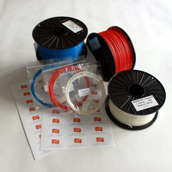 3D printer filament Sample packs