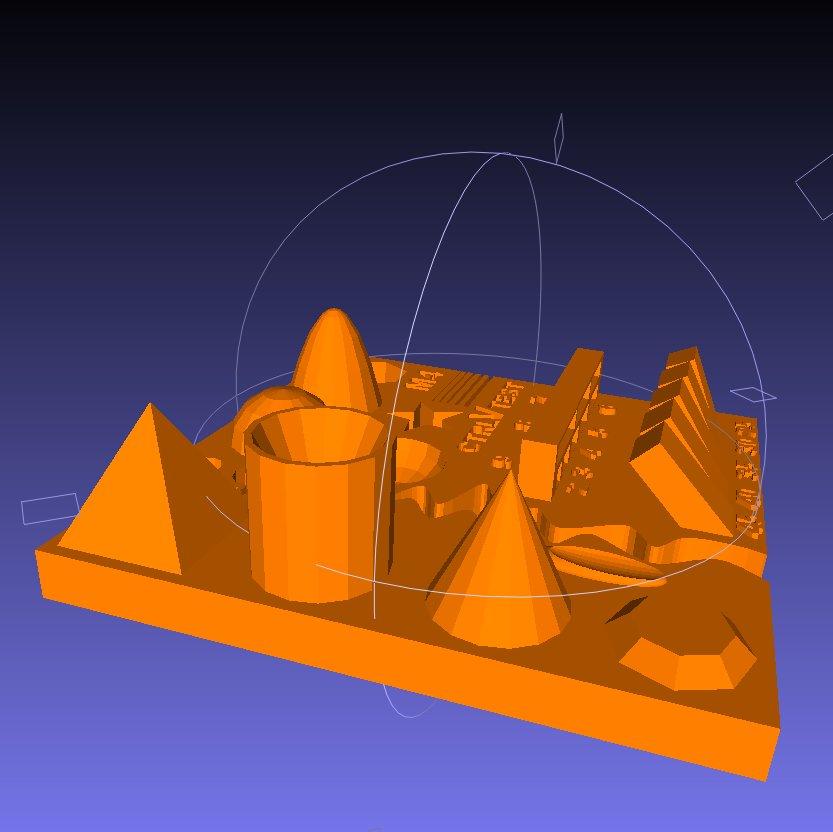 ctrlV 3D printer test model