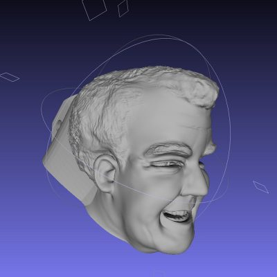 3D printed jeremy clarkson head