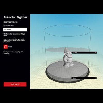 Makerbot MakerWare Digitizer software