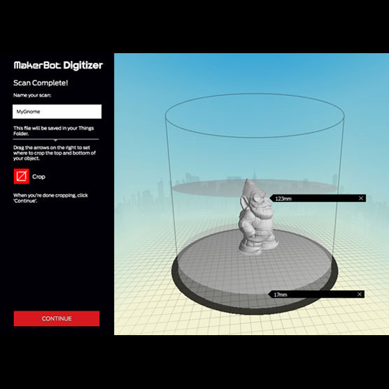 Makerbot MakerWare Digitizer software