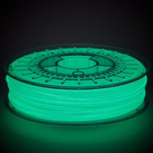 Luminescent 3D printer filament