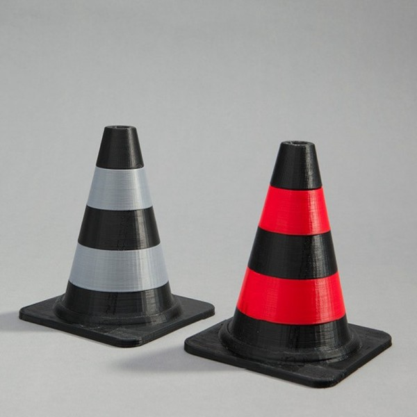 3D print in two colours or materials