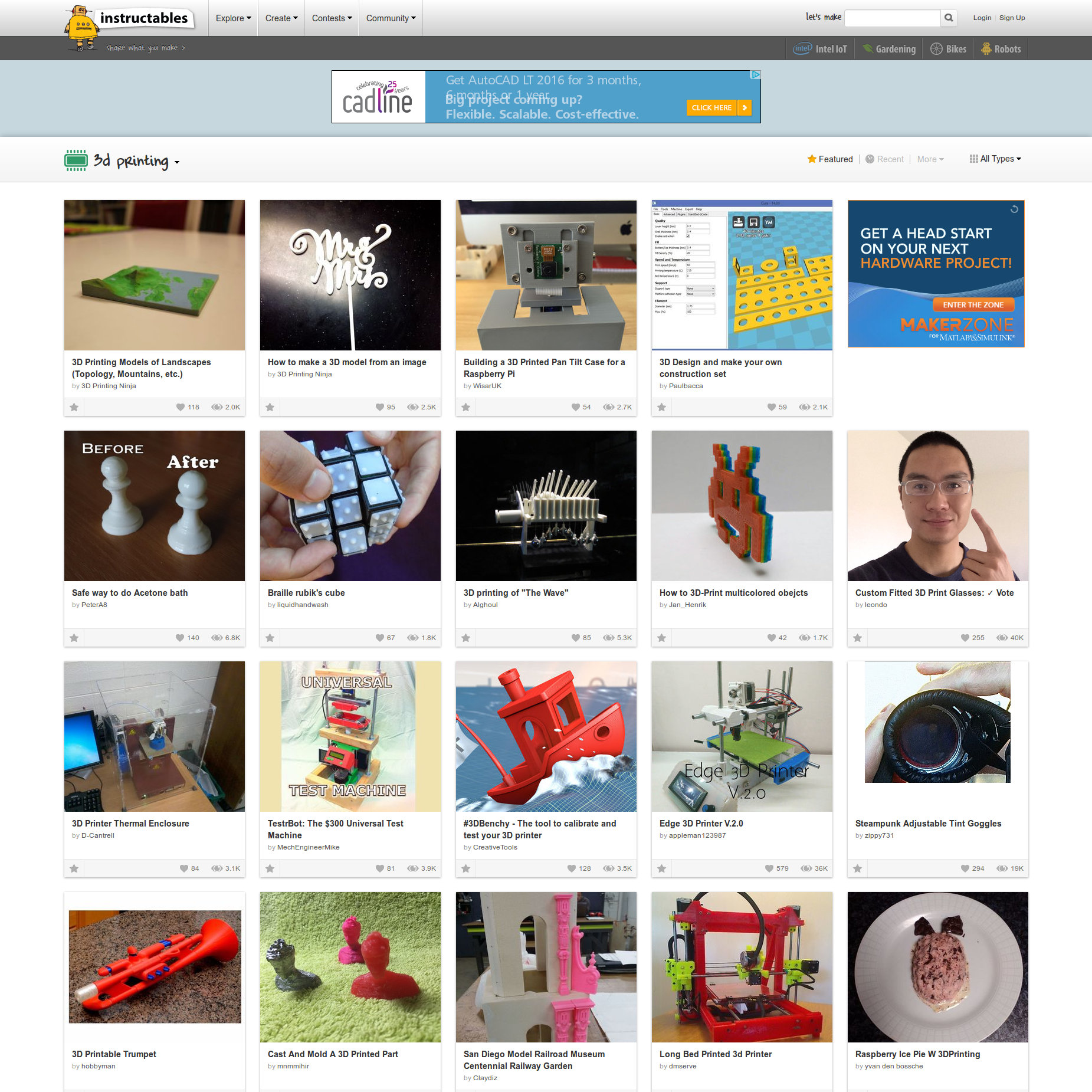 Instructables instructions for makers website