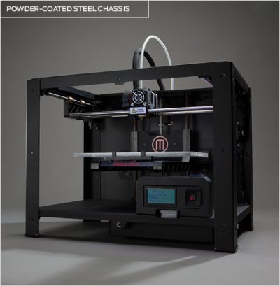 Makerbot replicator 2 with powder coated chassis