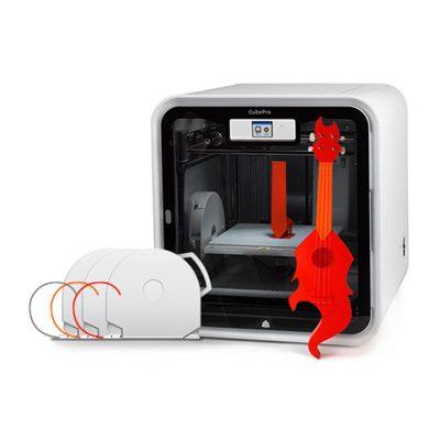 CubePro with 3D printed Ukulele