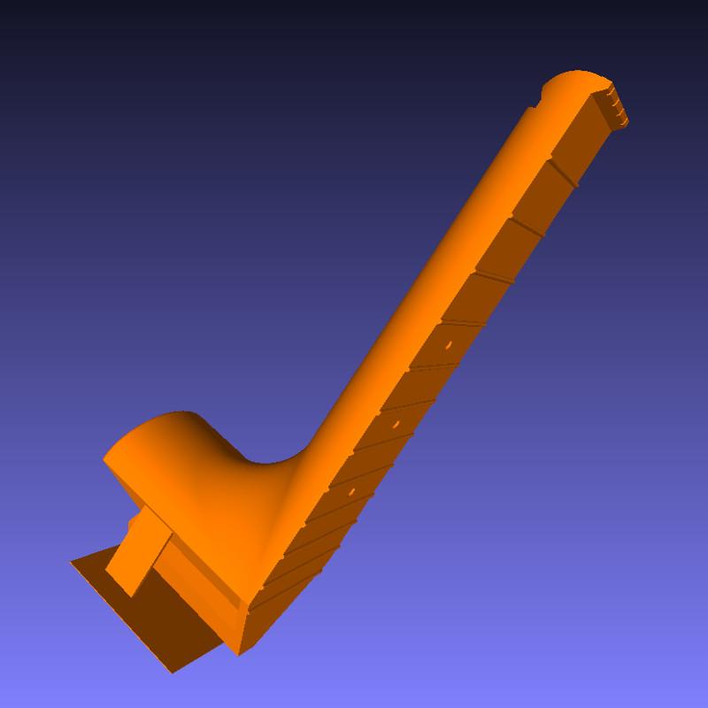 neck of 3D printable ukulele