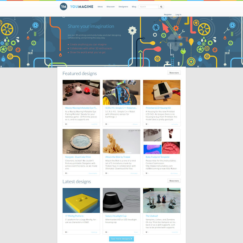YouMagine 3D printer file sharing website