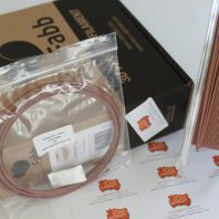 ColorFabb CopperFill sample 3D printer filament