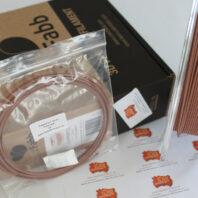 ColorFabb CopperFill sample 3D printer filament