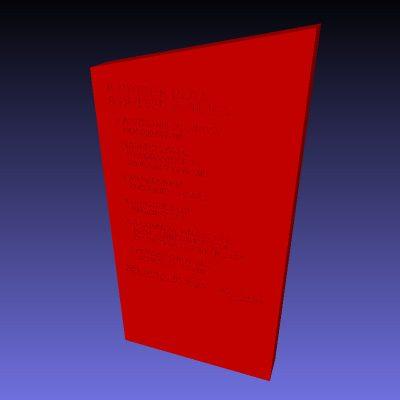 3D printerable Labour Party Political Pledges Tablet