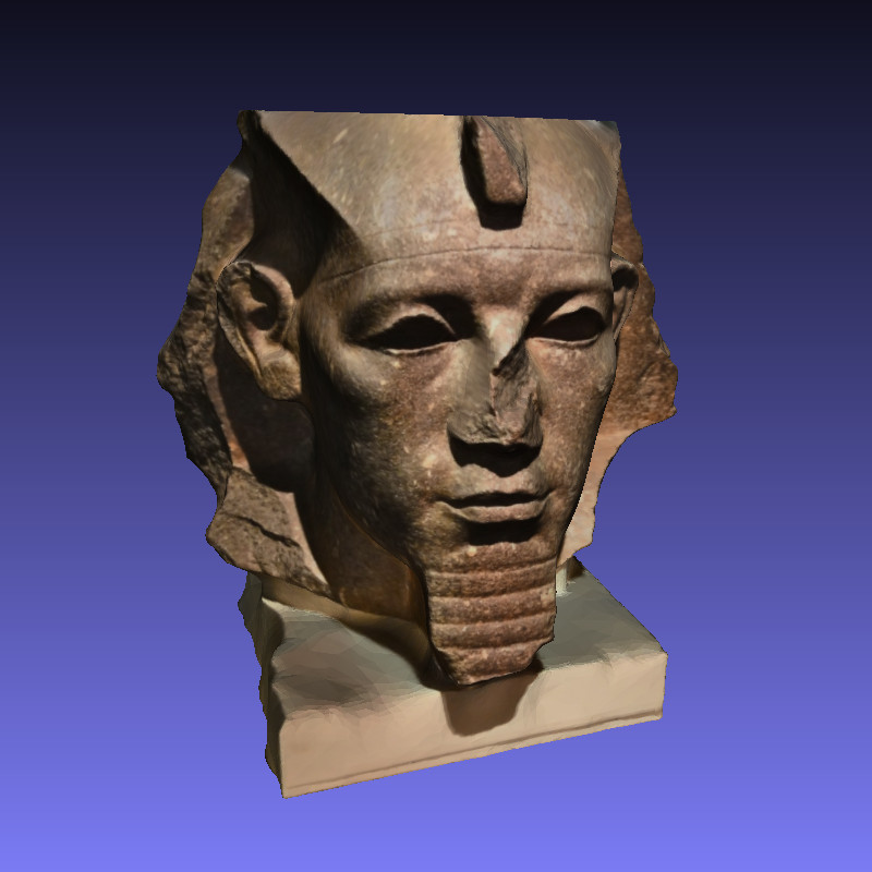 3D print the head of Amenemhet 3rd