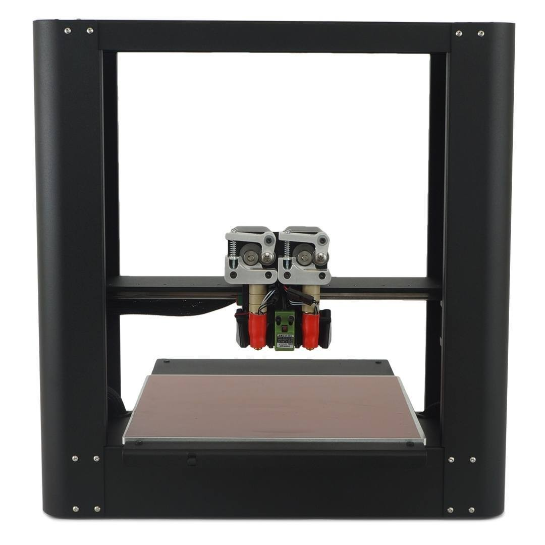 The PrintrBot Metal Plus with dual extruder and heated bed