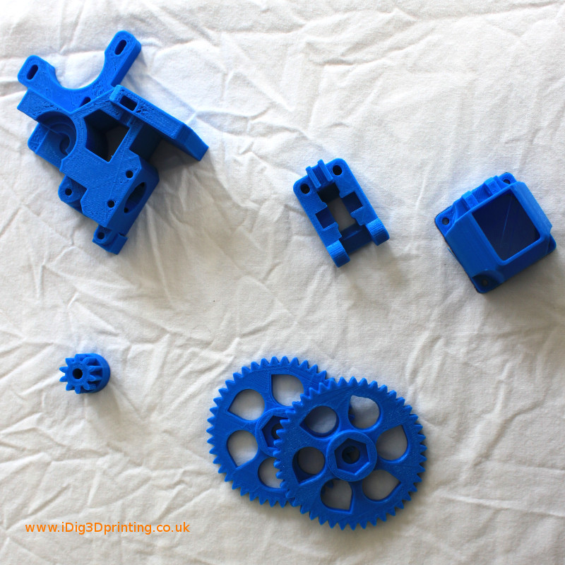 Printed parts for Wades extruder