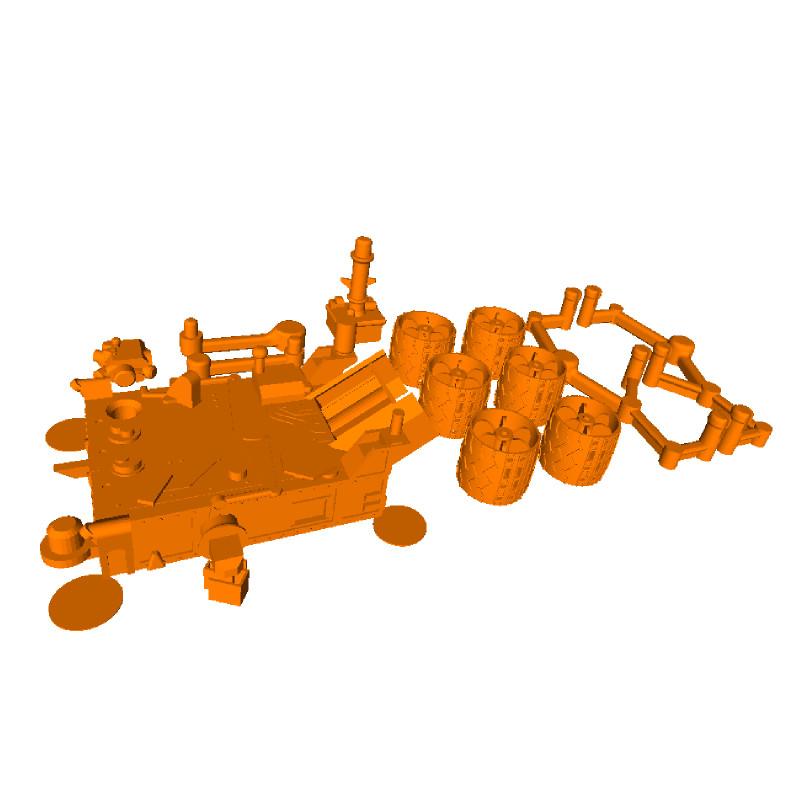Curiosity Rover 3D printable .STL files