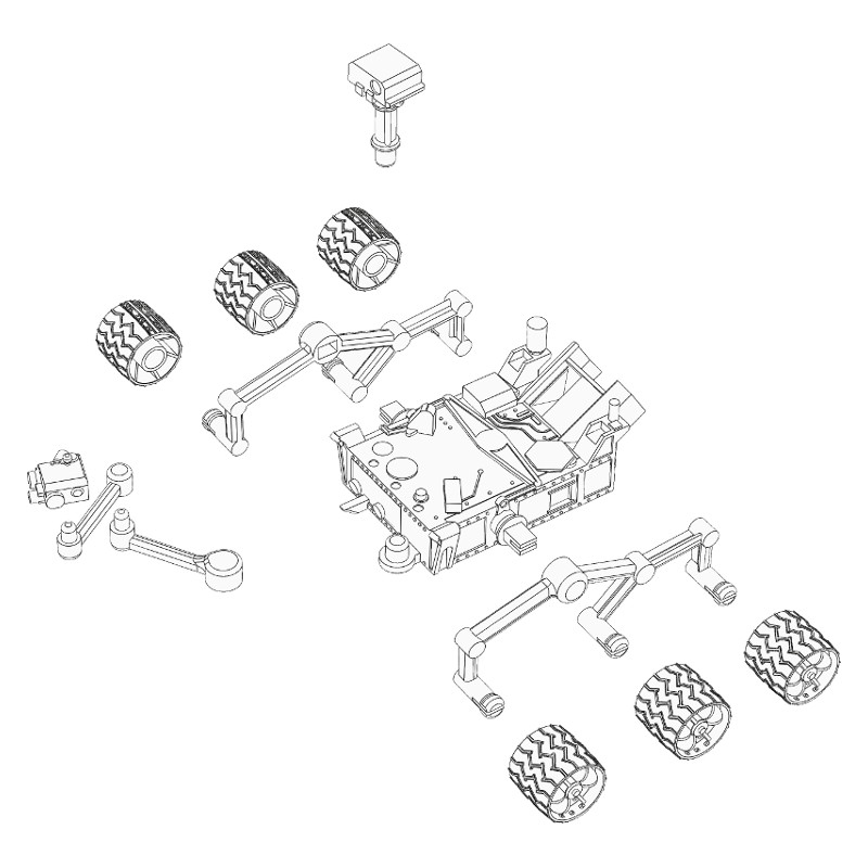 Instructions for 3D printable mars curiosity rover