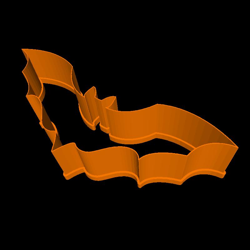 3D printable bat cookie cutter
