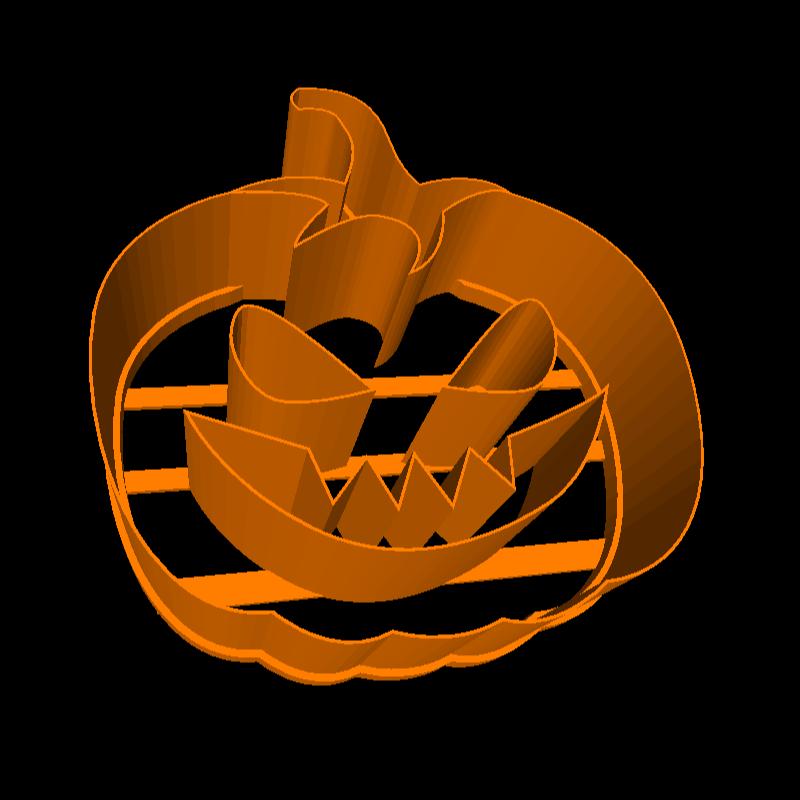 3D printable pumpkin cookie cutter