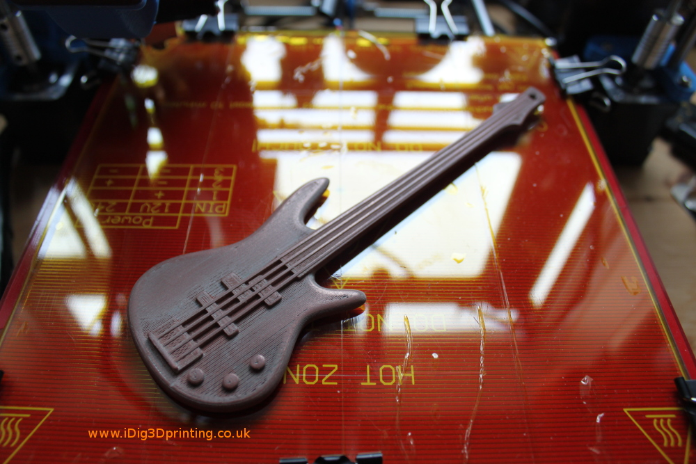 Polished CopperFill 3D printed Bass Guitar