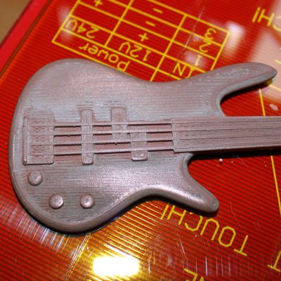 Bass Guitar printed in ColorFabb CopperFill
