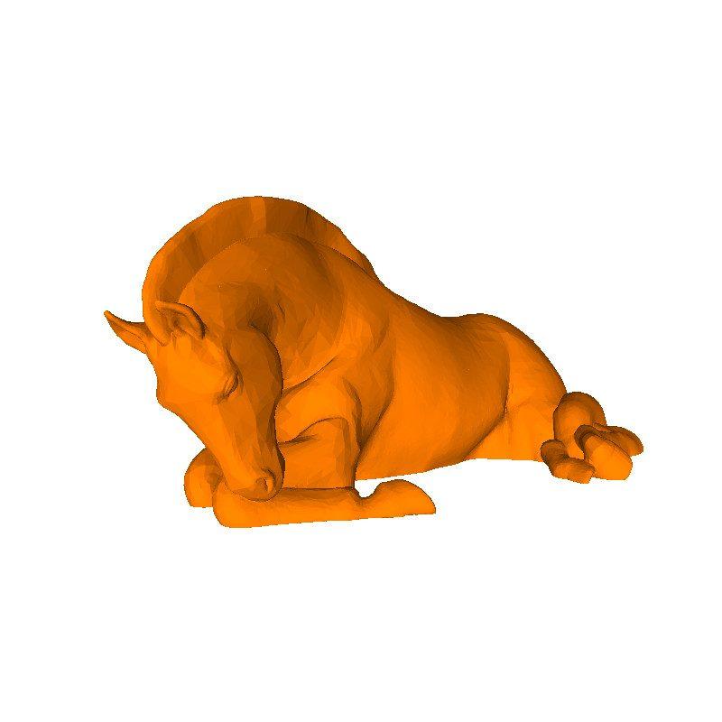 3D printer model file of horse