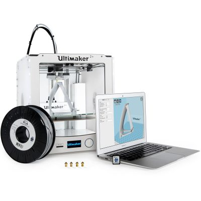 The Ultimaker 2 Plus with swappable nozzles
