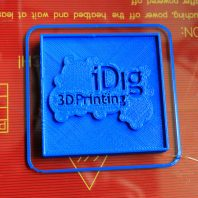 i Dig 3D printing test 3D printer model