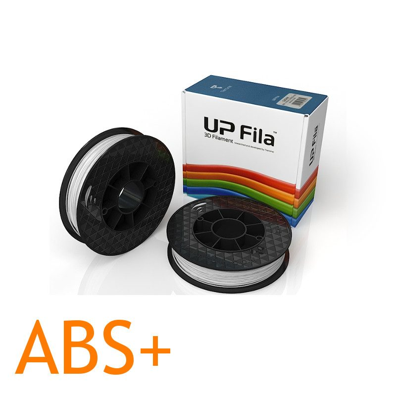 White ABS PLus Up 3D printer filament