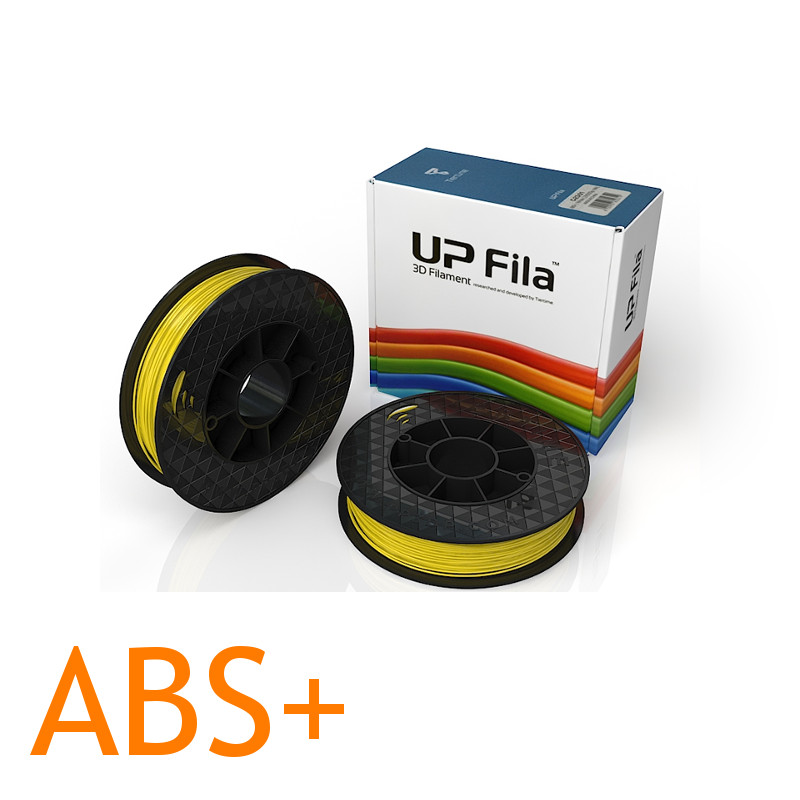 Yellow UP ABS Plus 2D printer filament