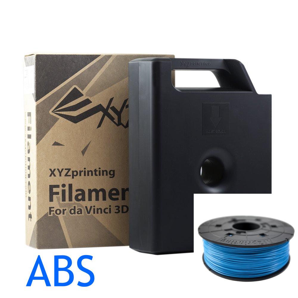 XYZ Steel Blue ABS da vinci filamentlue_xzy_cartridge